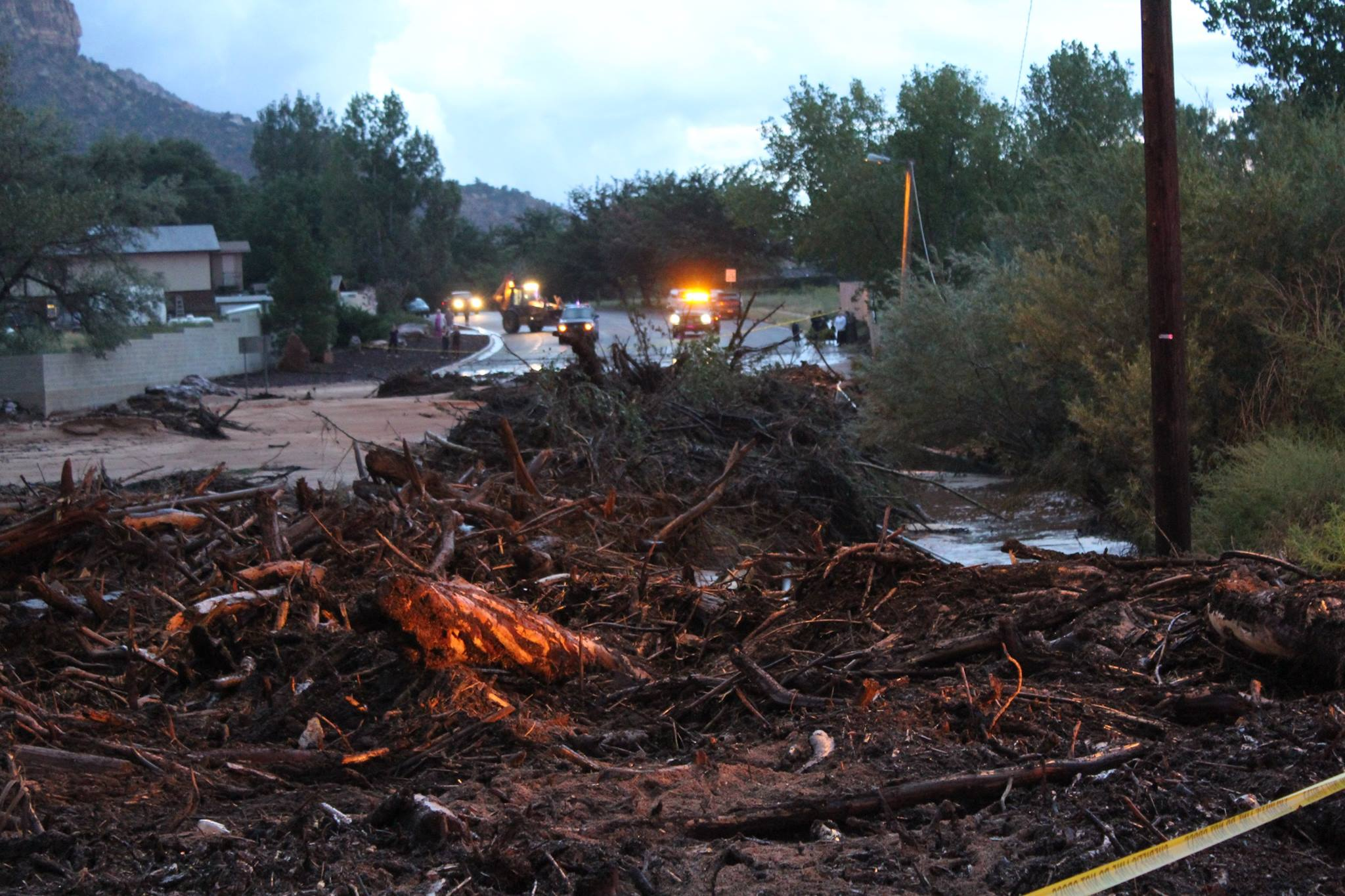 debris from the flood
