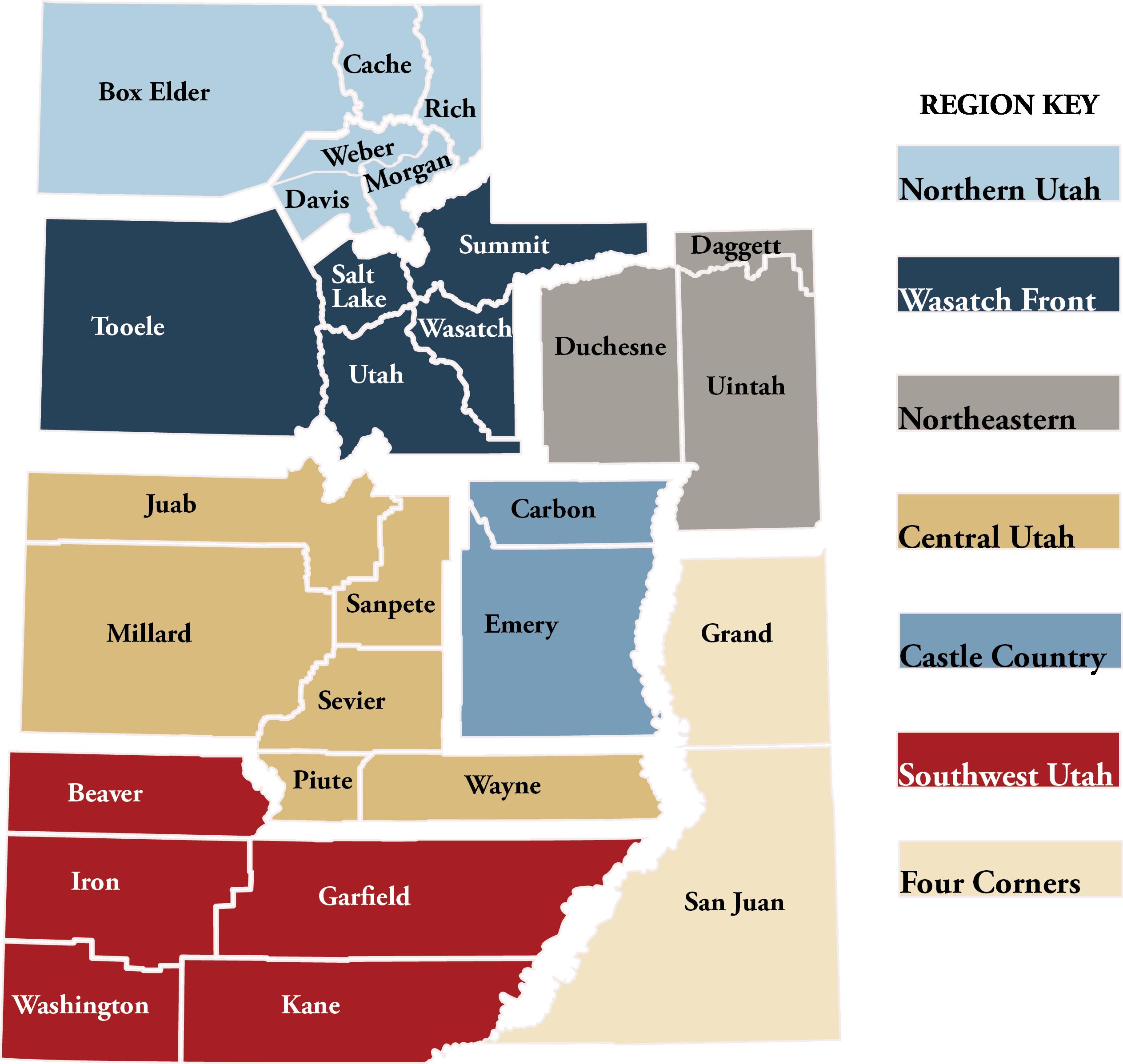 DEM Regions of Utah